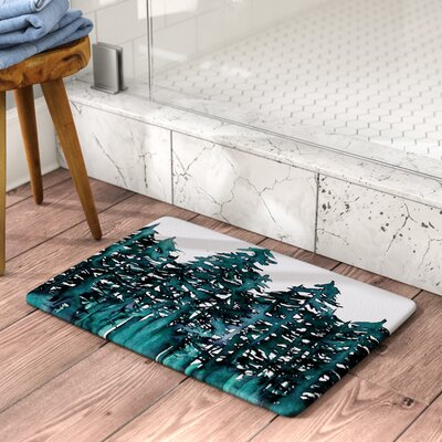 Ebi Emporium Forest Through the Trees 5 Memory Foam Bath Rug Size: 0.5 H x 17 W x 24 D