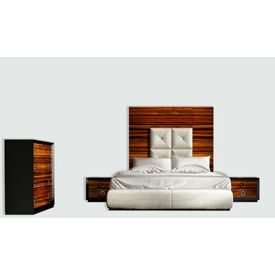 Huggins Panel 4 Piece Bedroom Set Size: Queen