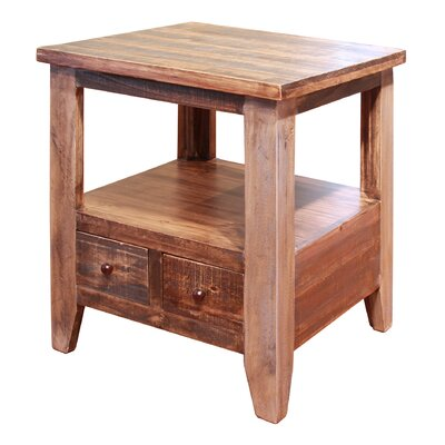 Robbs End Table with 2 Drawer