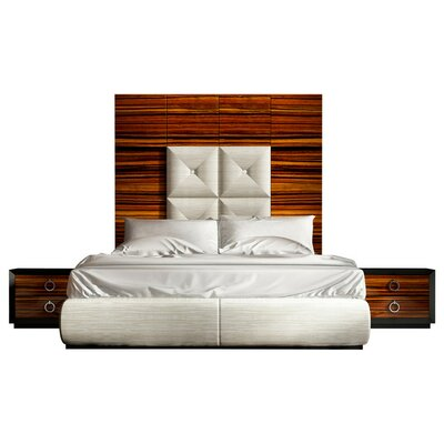 Huggins Panel 3 Piece Bedroom Set Size: King