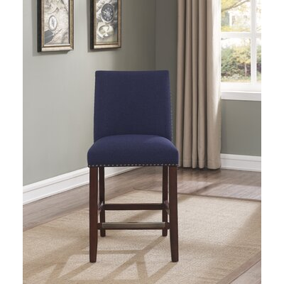 Putcha 25 Bar Stool Upholstery: Blue