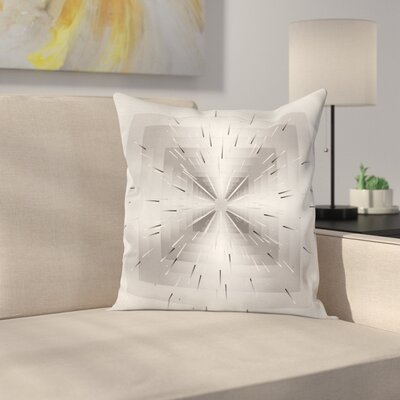 Squares and Ombre Lines Square Cushion Pillow Cover Size: 16 x 16