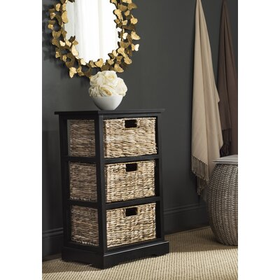 Halle End Table With Storage� Color: Distressed Black