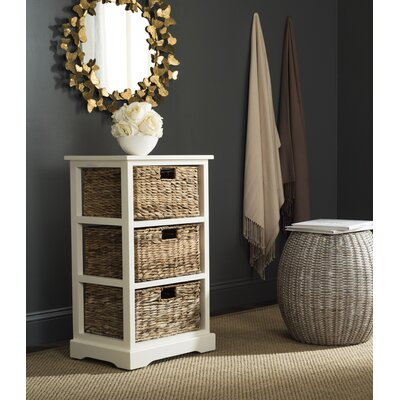 Halle End Table With Storage� Color: Distressed White