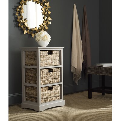 Halle End Table With Storage� Color: Vintage White