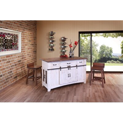 3 Drawer Kitchen Island Set