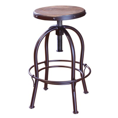 Guzik Adjustable Height Swivel Bar Stool