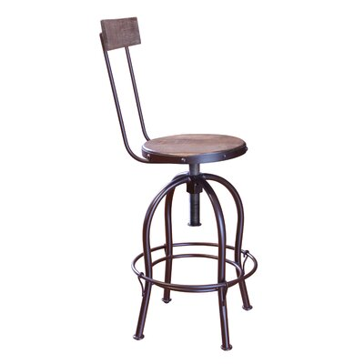 Guynn Adjustable Height Bar Stool