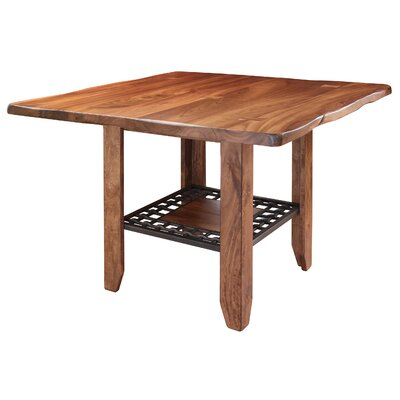 Esters Pub Table with Iron Shelf