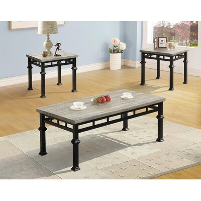 Wetzel 3 Piece Coffee Table Set