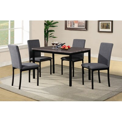 Nimmons 5 Piece Counter Height Dining Set