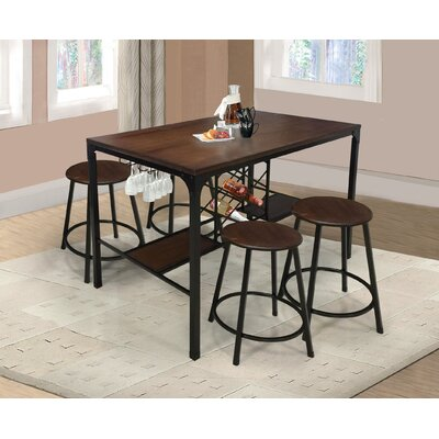 Glendale 5 Piece Pub Table Set