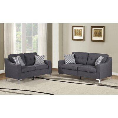Lawncrest 2 Piece Living Room Set Color: Gray