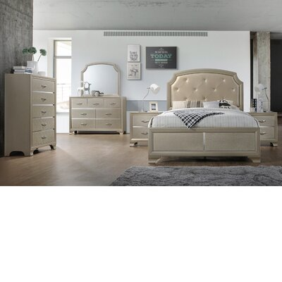 Mcpeters Panel 4 Piece Bedroom Set Bed Size: Queen