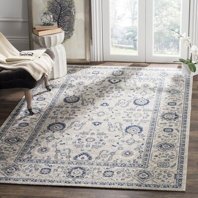 Nielsen Gray/Ivory Area Rug Rug Size: Rectangle 51 x 76