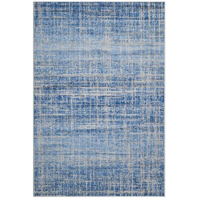Schacher Blue/Silver Area Rug Rug Size: Rectangle 51 x 76