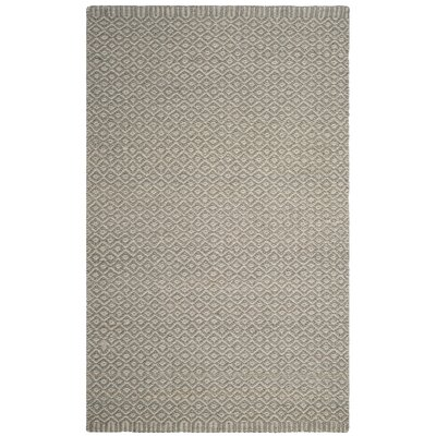 Leesport Hand Woven Gray Area Rug Rug Size: Rectangle 5 x 8