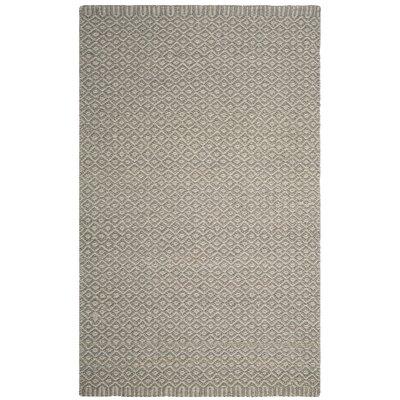 Leesport Hand Woven Gray Area Rug Rug Size: Rectangle 5 x 8