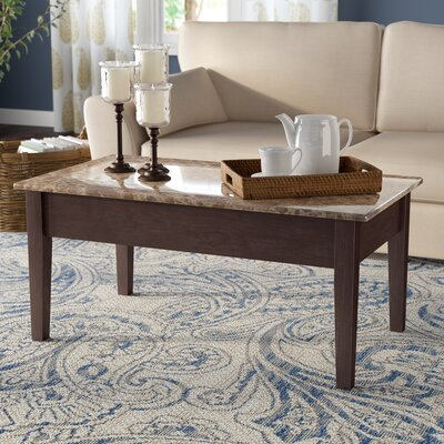 Carterville Lift Top Coffee Table with Storage Top Color: Beige/Brown, Base Color: Brown