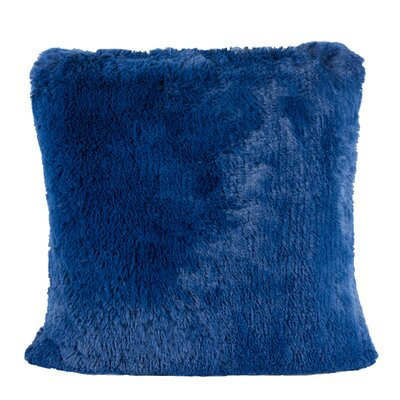 Kimmel Fur Double Side Luxury Fluffy Plush Throw Pillow Color: Blue