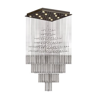 Hiett 12-Light Crystal Chandelier