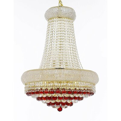 Kew Gardens 15-Light Empire Chandelier Crystal Color: Yellow