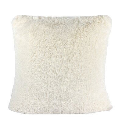 Kimmel Fur Double Side Luxury Fluffy Plush Throw Pillow Color: Ivory
