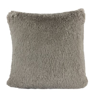 Kimmel Fur Double Side Luxury Fluffy Plush Throw Pillow Color: Gray