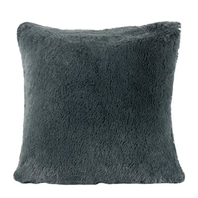 Kimmel Fur Double Side Luxury Fluffy Plush Throw Pillow Color: Metal Gray
