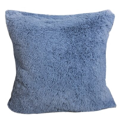 Kimmel Fur Double Side Luxury Fluffy Plush Throw Pillow Color: Baby Blue