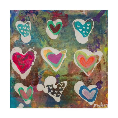 'Heart Vibrations' Acrylic Painting Print on Wrapped Canvas ALI23480-C1414GG