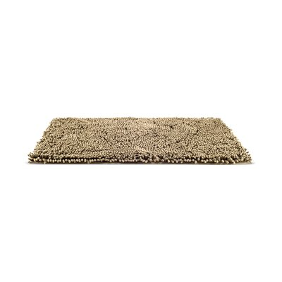 Paws Towel and Shammy Pet Mat Size: Medium (30 W x 1 D x 21 H), Color: Sand