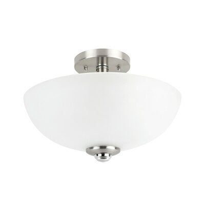 Updike 2-Light Semi-Flush Mount