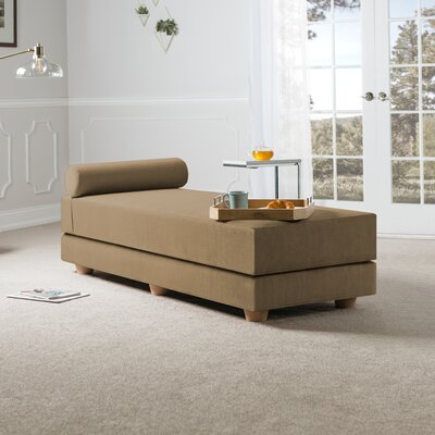 Choy Daybed with Mattress Color: Camel