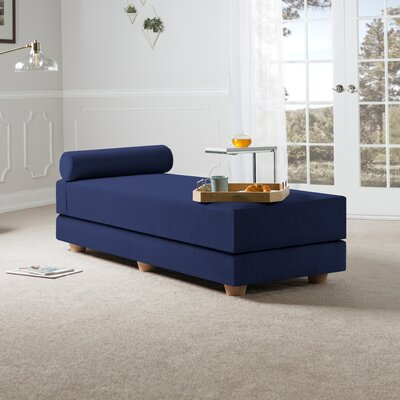 Choy Daybed with Mattress Color: Indigo