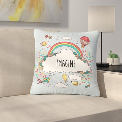 Imagine Fantasy Illustration Outdoor Throw Pillow Size: 16 H x 16 W x 5 D