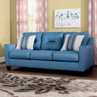 Huebert Sofa Upholstery: Blue