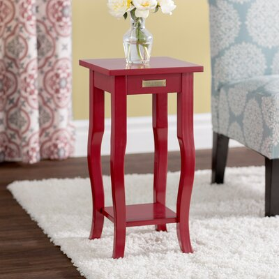 Danby End Table Color: Red