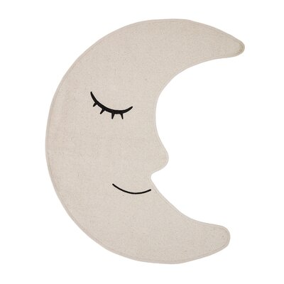 Dimarco Moon Shaped Cotton Cream Area Rug