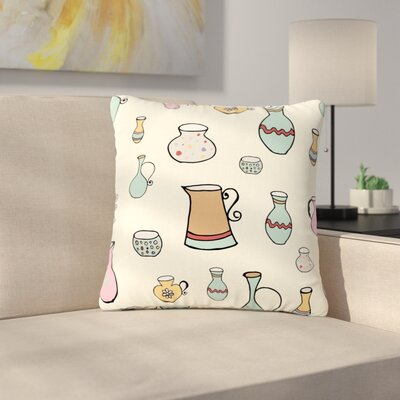 Louise Jugs Pattern Outdoor Throw Pillow Size: 16 H x 16 W x 5 D