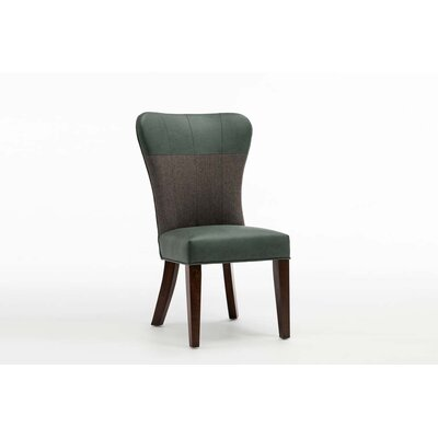 Rosalia Upholstered Dining Chair Upholstery: Green/Gray