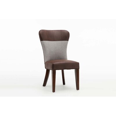 Rosalia Upholstered Dining Chair Upholstery: Maroon/Gray