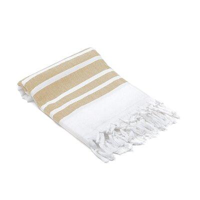 Ruthar Herringbone Turkish Beach Towel Color: Caramel