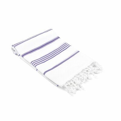 Ast�re Turkish Beach Towel Color: Purple