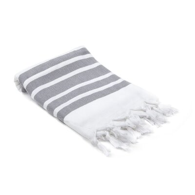 Ruthar Herringbone Turkish Beach Towel Color: Gray