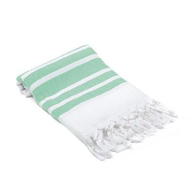 Ruthar Herringbone Turkish Beach Towel Color: Green