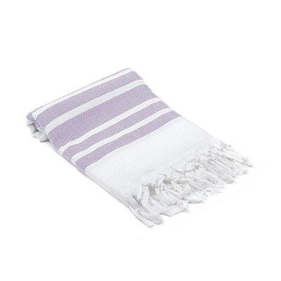 Ruthar Herringbone Turkish Beach Towel Color: Levander