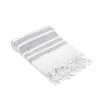 Ruthar Herringbone Turkish Beach Towel Color: Light Gray