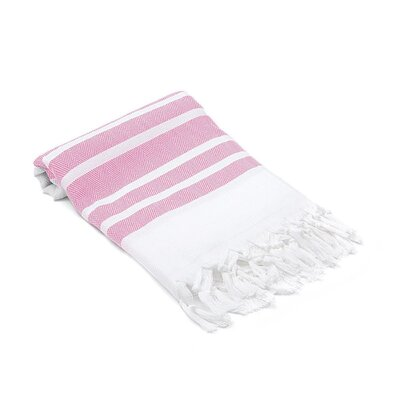 Ruthar Herringbone Turkish Beach Towel Color: Rose Pink