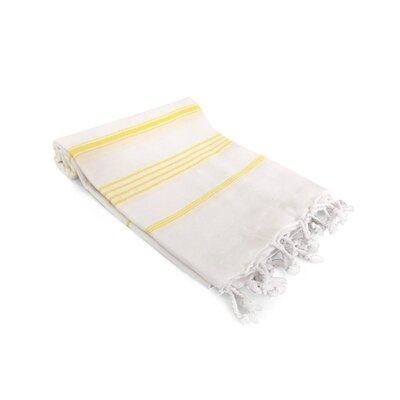 Ast�re Turkish Beach Towel Color: Yellow